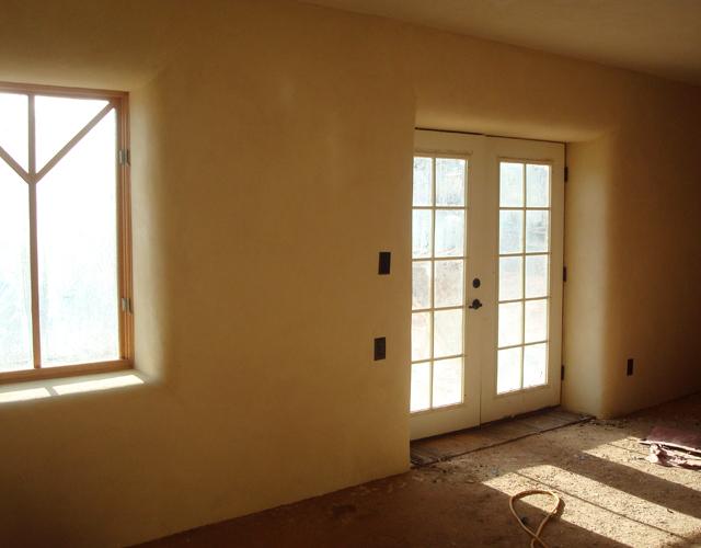 35 living room finish plaster