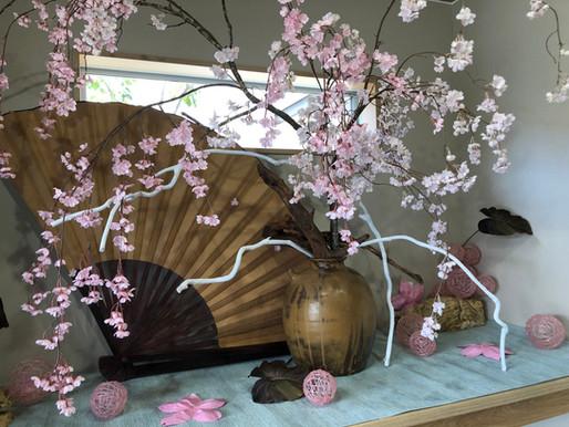 4月玄関ディスプレイ SAKURA