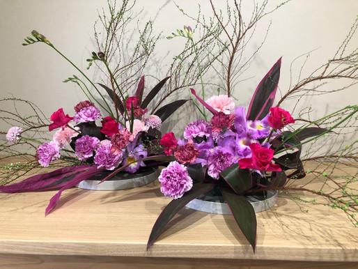 寿デイサービス     玄関 今月の花