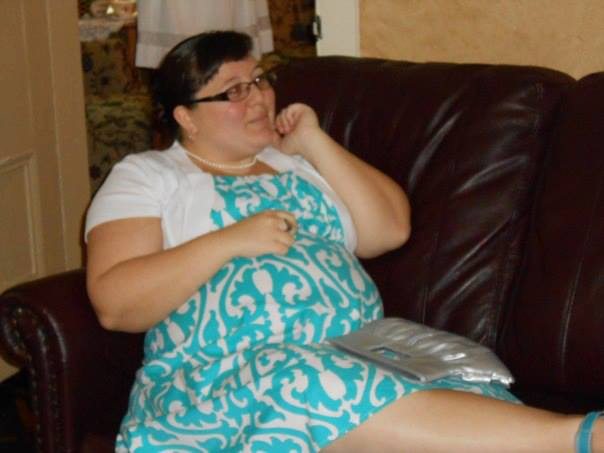 """Doula Angela """"On Bed Rest"""" at a wedding shower."""