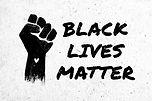 Stock illustration of a raised black fis