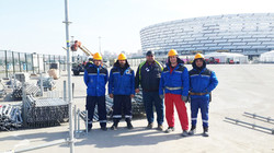 The team of scaffolders