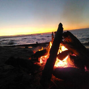 Lake Superior Beach Fire, Ontonagon MI
