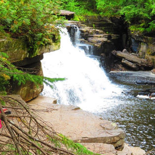 Canyon Falls Upper Peninsula Michigan