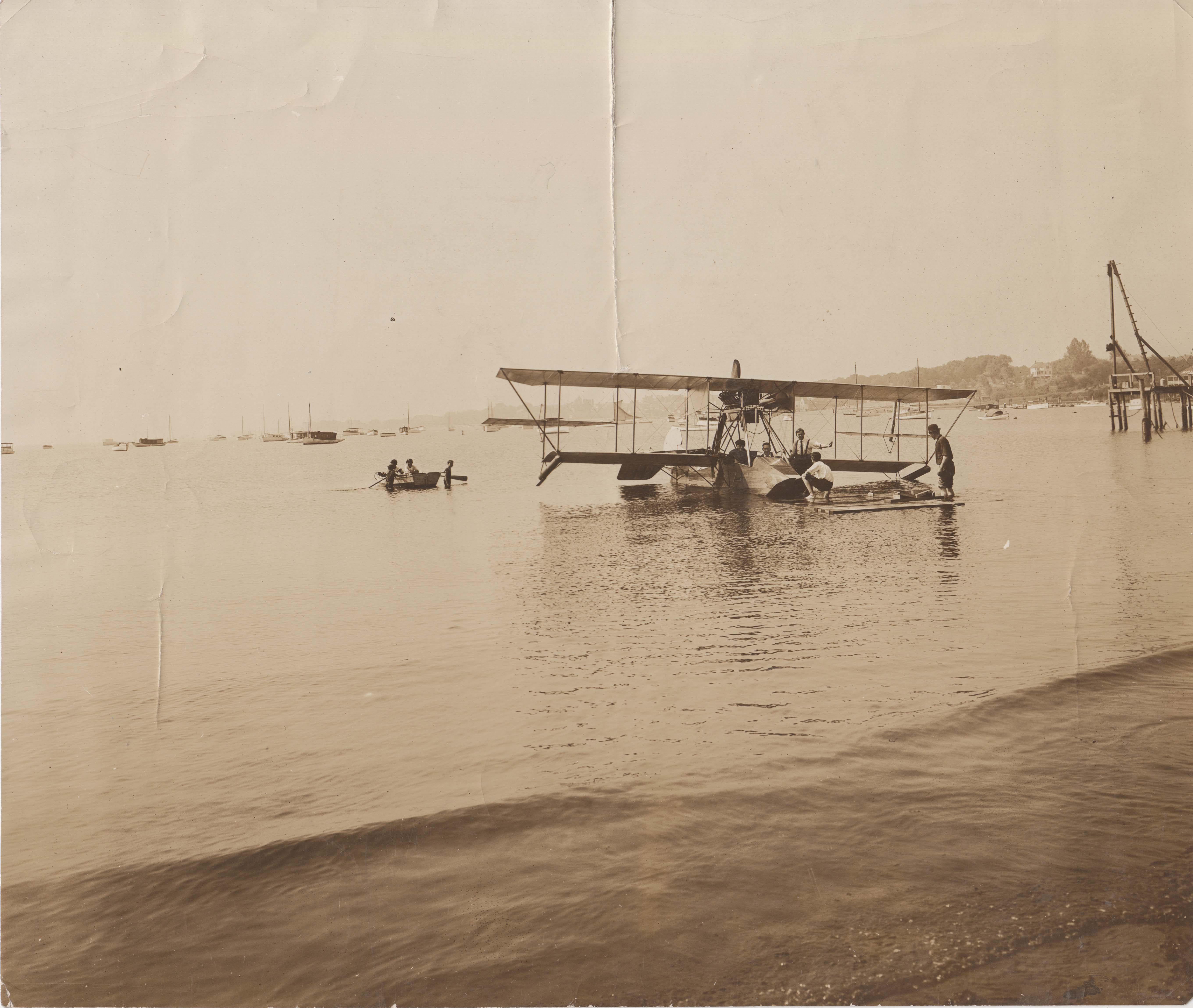 0239A Plane in Water at Beach