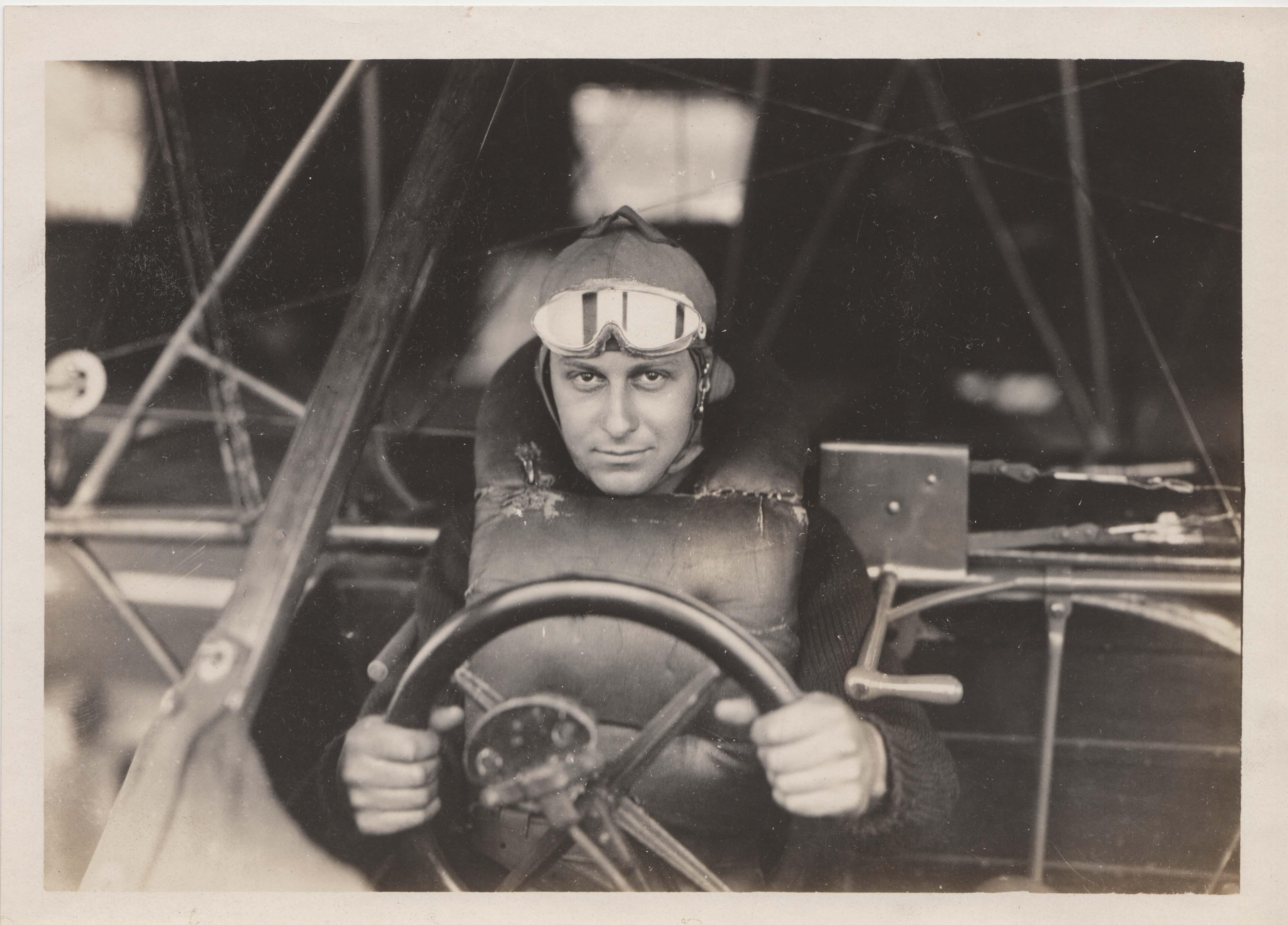 0223 A pilot in cockpit