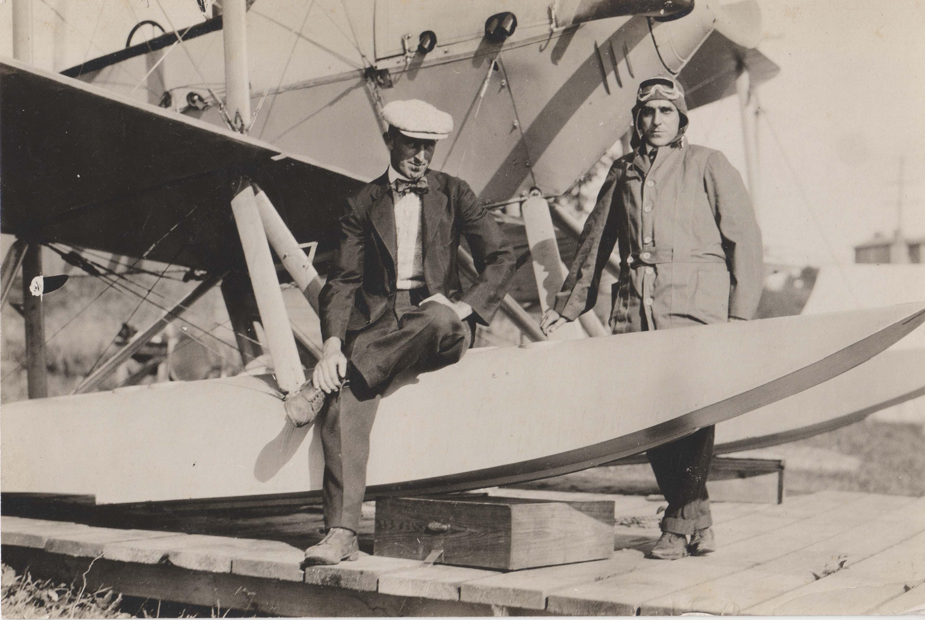0084 Two Men Near Hydroplane