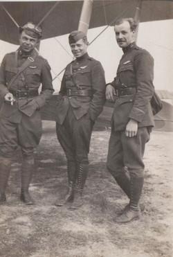 0456 Three Men in Front of Plane