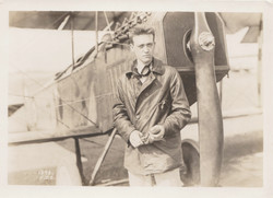 0034 Pilot Standing in Front of Airplane