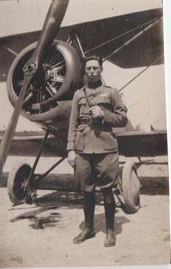 0463 Man in front of Plane Propeller