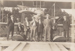 0174 Multiple Staff in front of hydroplane Dark