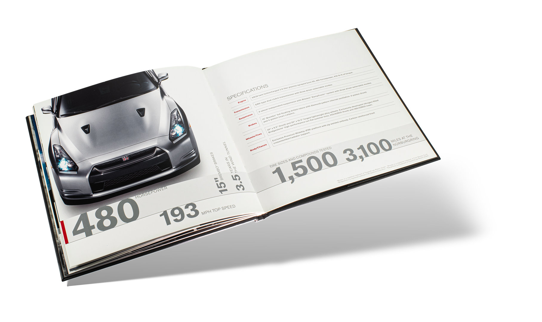 Nissan GTR Car Book Spread 19