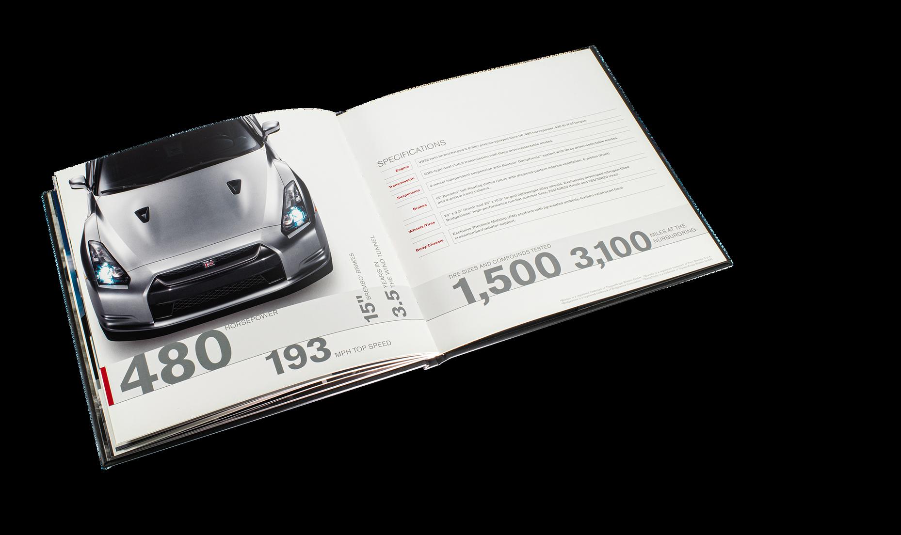 Nissan GTR Car Book Spread 19