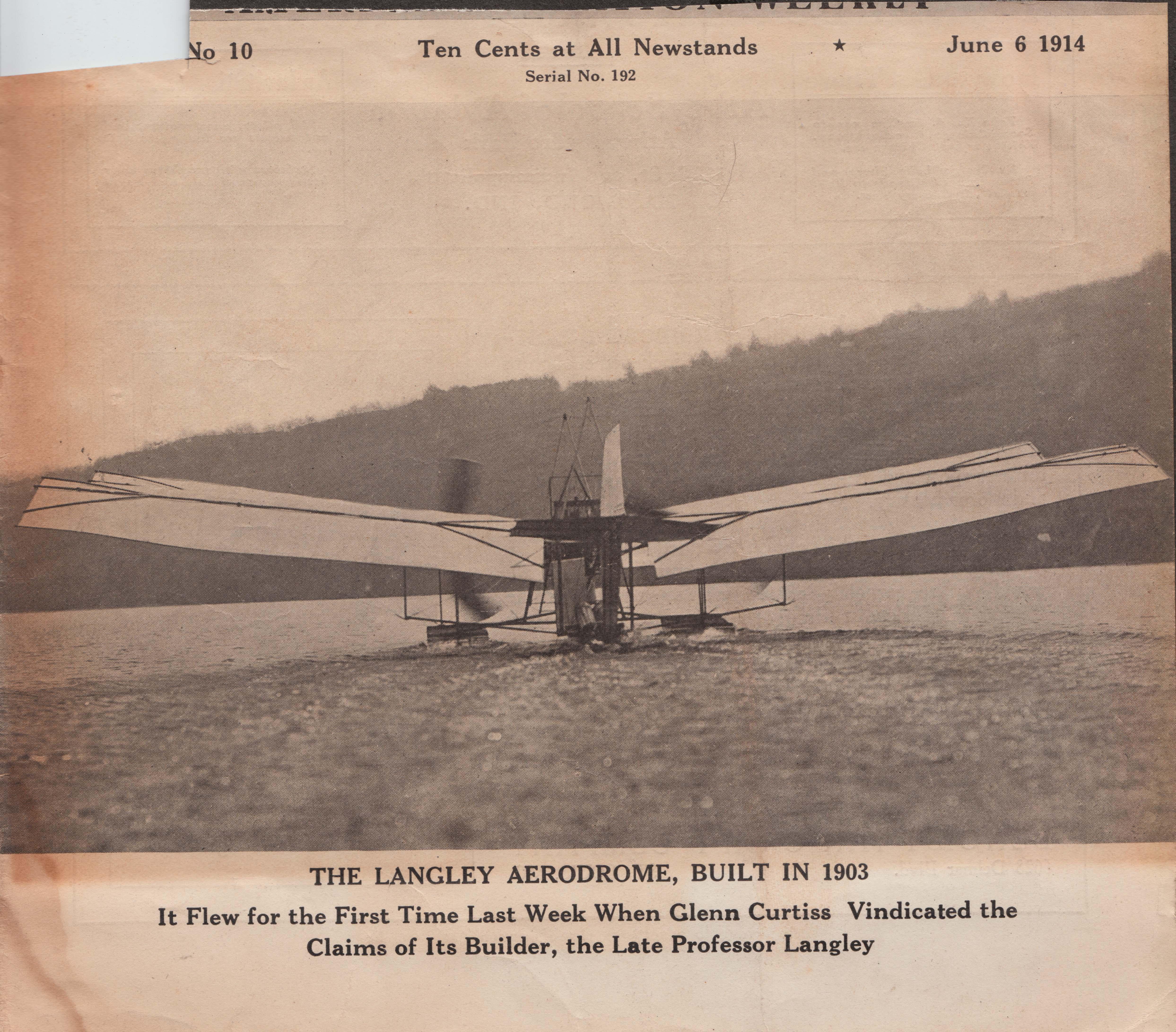 E The Langley Aerodrome First Flight