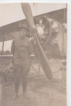 0305 Officer in front of Plane Propeller