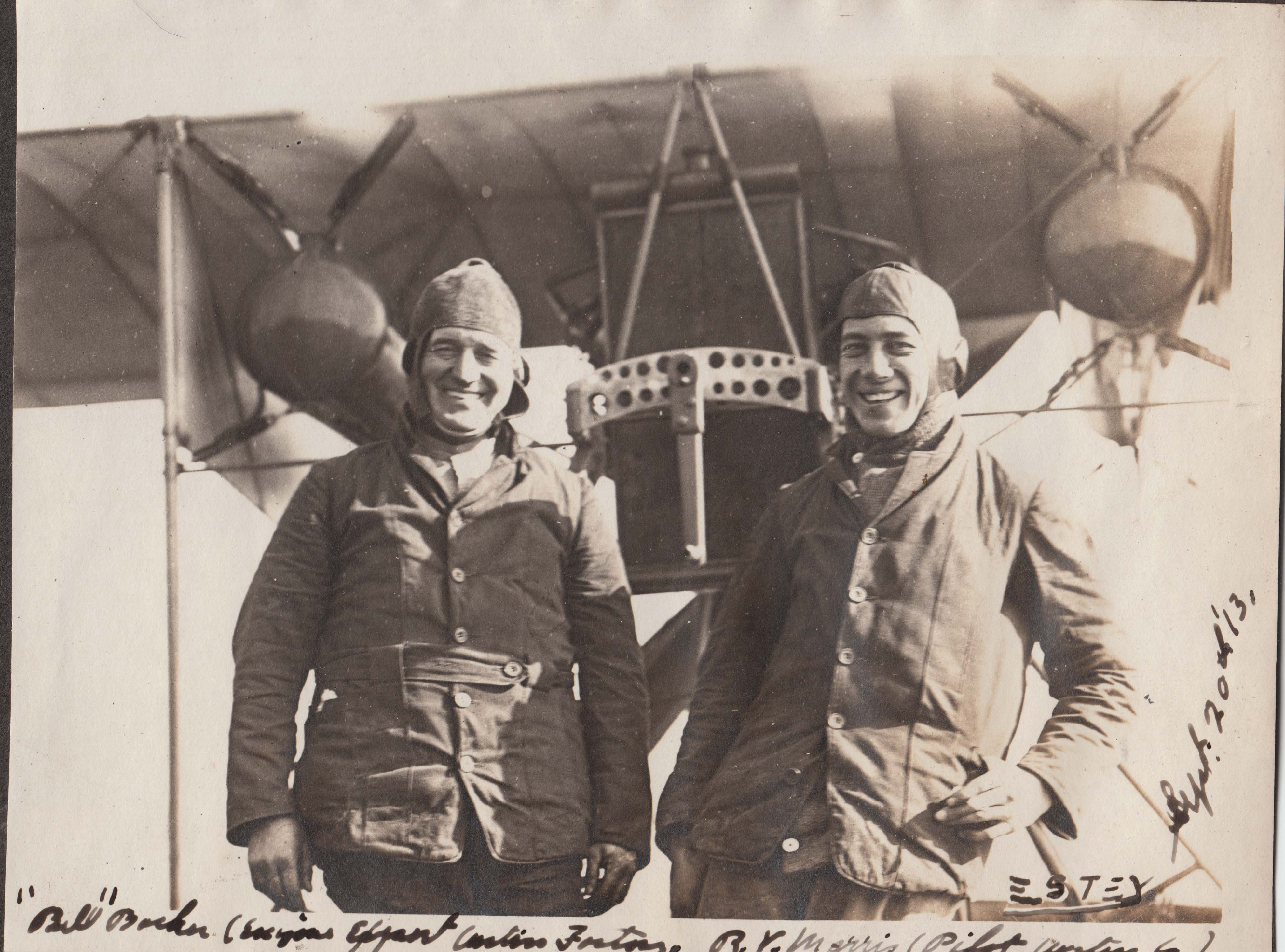 B Sept 20 1913 Two Pilots in front of Langley Machine