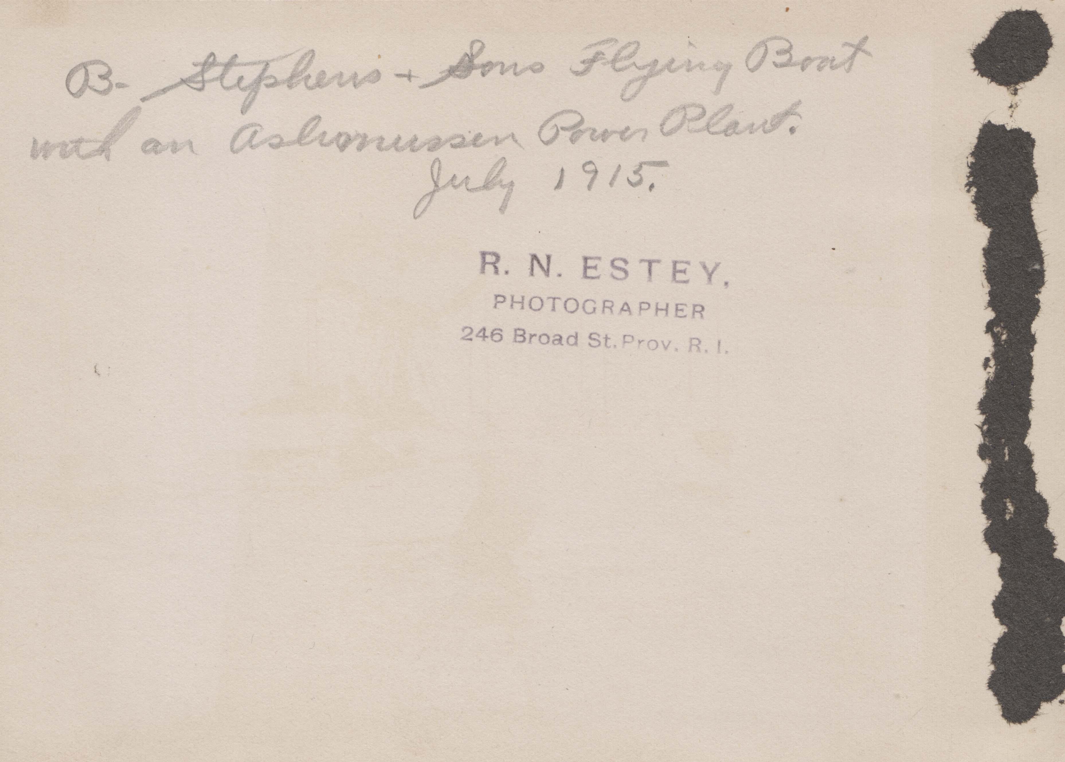 0044B Flying Boat July 1915