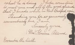 0401B Florence Alivood Nov 10 1911 Letter to Estey
