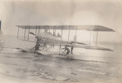 0085 Pilots and Hydroplane on Beach
