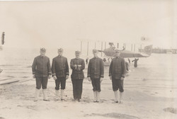 0243 Five men in uniform at beach