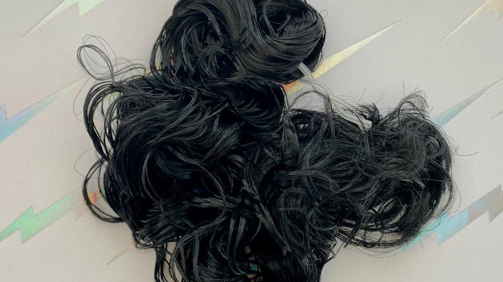 HQG1C Nylon Hair - Black Raven (Curly) - For Custom Ponies