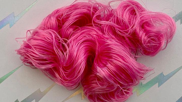 HQG1C Nylon Hair - Pink Pop (Curly) - For Custom Ponies