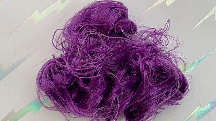 HQG1C Nylon Hair - Great Grape (Curly) - For Custom Ponies