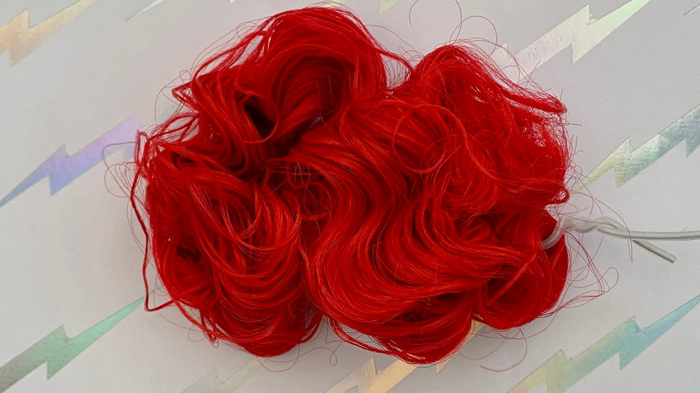 HQG1C Polypropylene Hair - Jolly Red (Curly) - For Custom Ponies