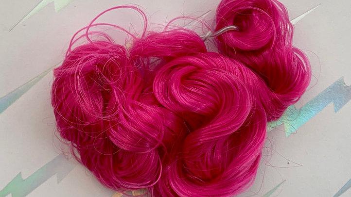 HQG1C Nylon Hair - Pink Power (Curly) - For Custom Ponies