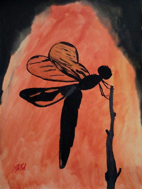 Dragonflies for Em Orange