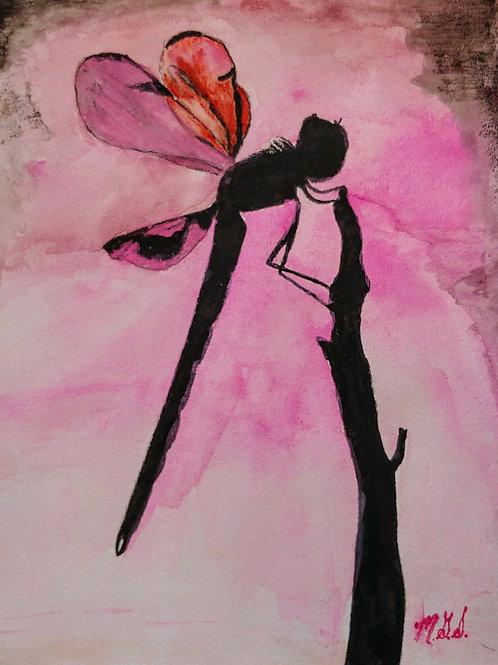 Dragonflies for Em Pink