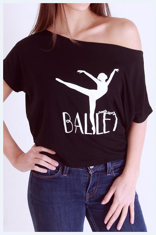 """Blusa ombro caído """"Gente que ama Ballet"""""""