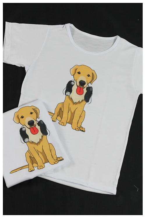 """Camiseta """"Cachorro"""" - Infantil"""