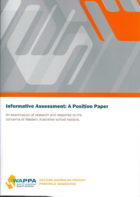 INFORMATIVE ASSESSMENT: A position paper by Principals (pdf file)