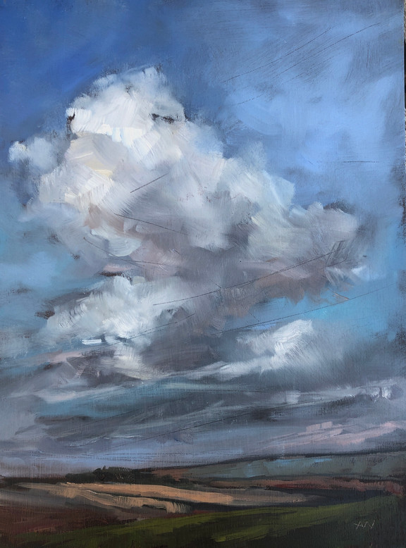 Clouds over fields