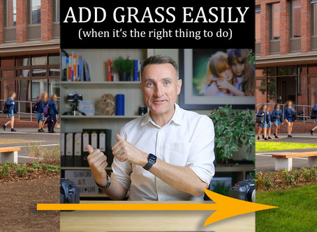 Adding grass to a photo (when it's right to do it)