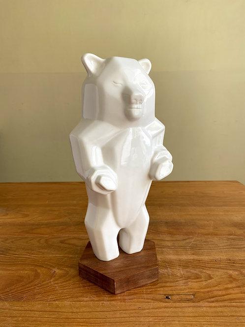 Alcancia de oso blanco