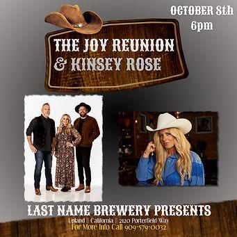 The Joy Reunion Kinsey Rose Oct 8th Show Ad.JPG