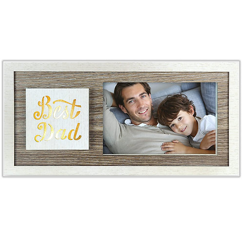 Best Dad Wooden Photo W446