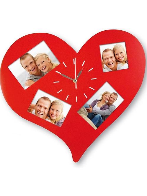 Photos Frame heart with clock 568CL