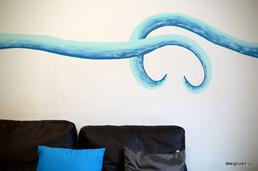 Milostná vlna obývací poko