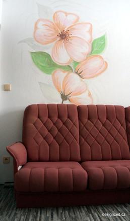 Květy v obývacím pokoji
