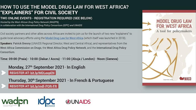"""How to use the Model Drug Law for West Africa - """"Explainers"""" for civil society"""