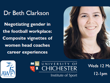 WATCH: Women head coach experiences with Dr Beth Clarkson