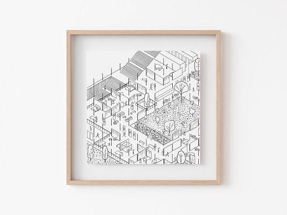 Casa Surrealista Print