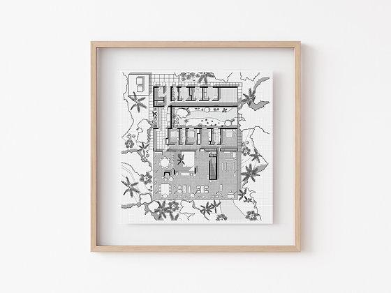 Casa de Vidrio B&W Print
