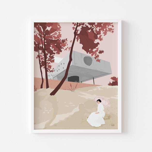 Maison bordeaux | Print