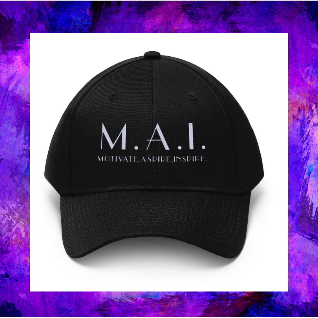 """This is the """"M.A.I."""" Brand logo cap of Creative Calfuray."""