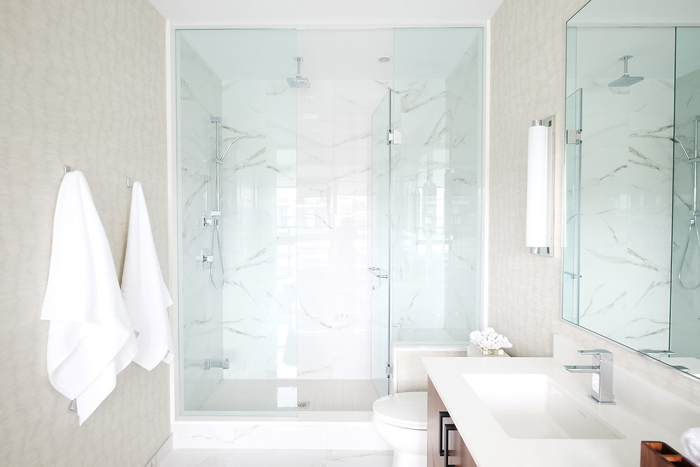 spa bathroom by Aspen & Ivy
