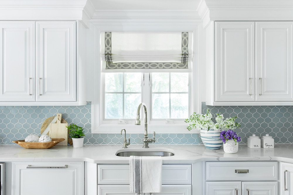 kitchen with quartz counters by Britt Design Studio